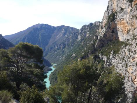 Entering the Gorges du Verdon