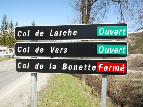 Col de Larche is what we want