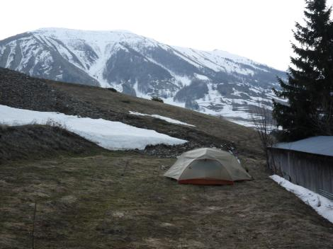 Camping - not as cold as you might think