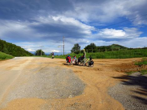 Serbia. Exiting the Balkan Mountains.