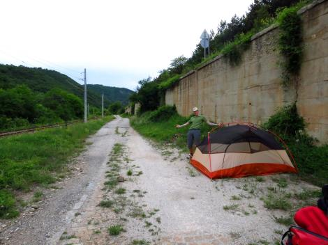 Roadside camping in Bulgaria.
