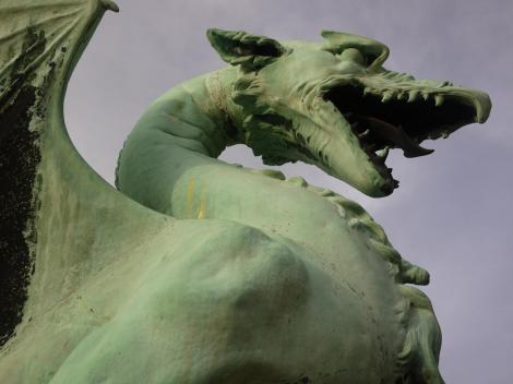 The dragon is the symbol of Ljubljana