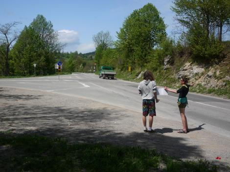 Polish hitchhikers.