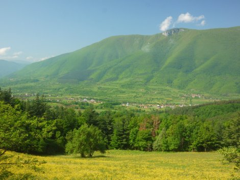 Typical Bosnian countryside. Beautiful, and so so green,.