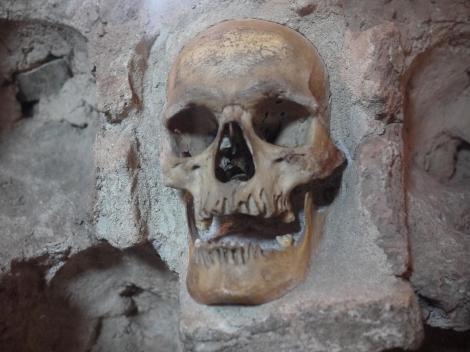 Skull tower. Creepy.