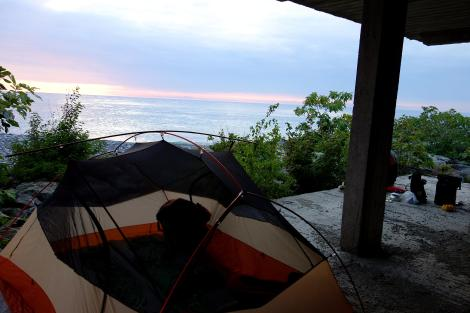 Camping along the Black Sea.