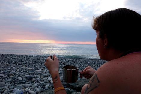 Dinnertime. Black Sea.