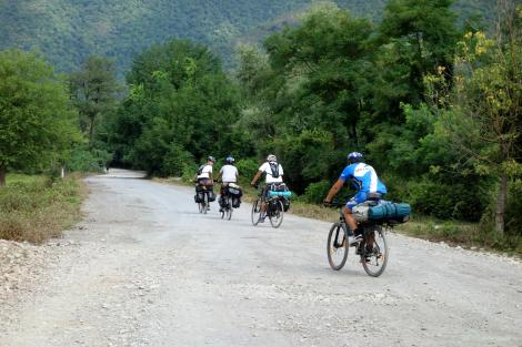 Some Azeri cyclists.