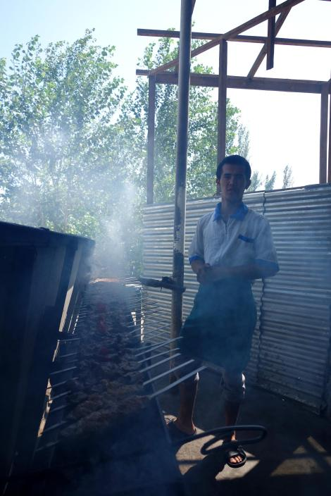 Making shashlik