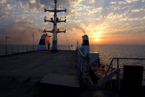 Sunset on the Caspian